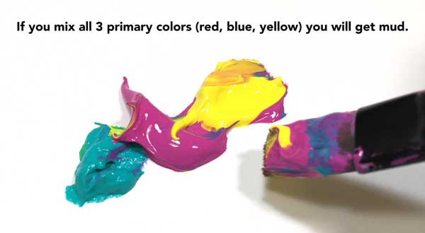 3 Primary colors make mud Carolyn Dube