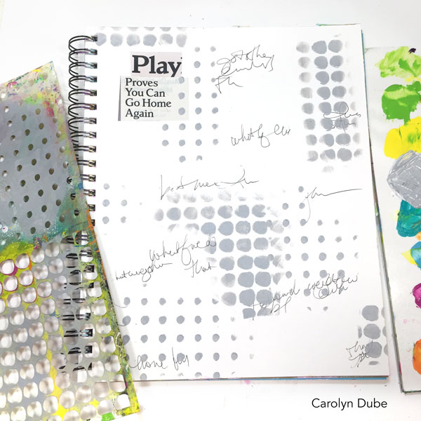 How to Find Meaning for Your Art Journal Page with Carolyn Dube