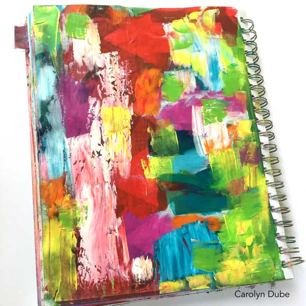 Dealing with an ugly art journal page by Carolyn Dube