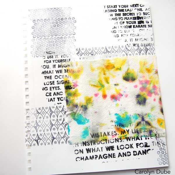 Baby Wipes as a Focal Image in you Journal with Carolyn Dube