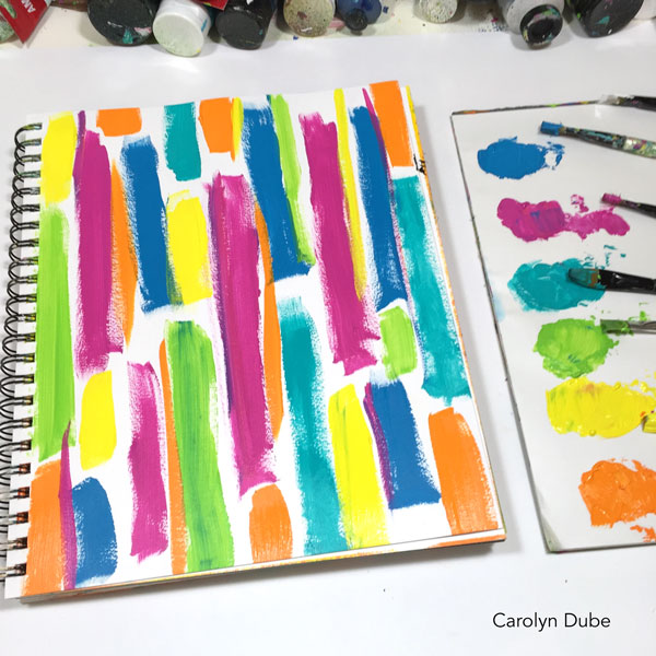 art-journaling-with-leftover-paint-carolyn-dube